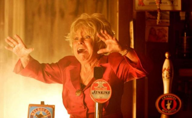 Peggy Mitchell wails in horror as she realises Phil is trapped in the Queen Vic fire - but will either of them come out of it alive?