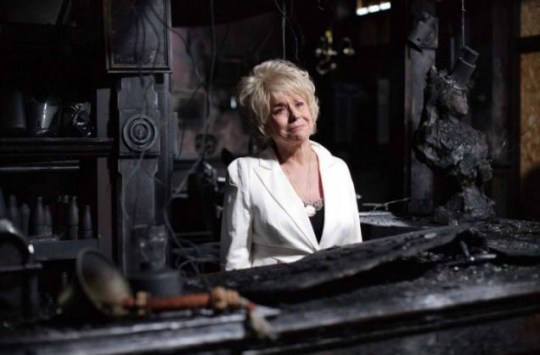 Peggy Mitchell bows out of EastEnders after Queen Vic fire
