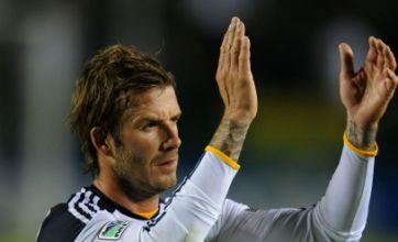 David Beckham is eyeing an England call-up