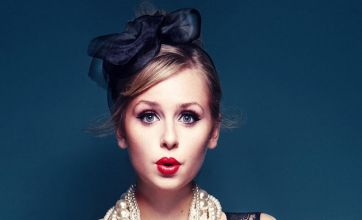 Diana Vickers gets down to underwear for Fashion Week
