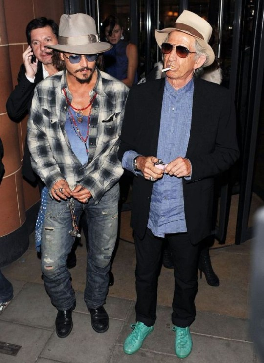 Johnny Depp and Keith Richards, Pirates 4