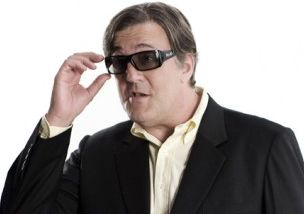 Stephen Fry: not a natural sunglasses wearer