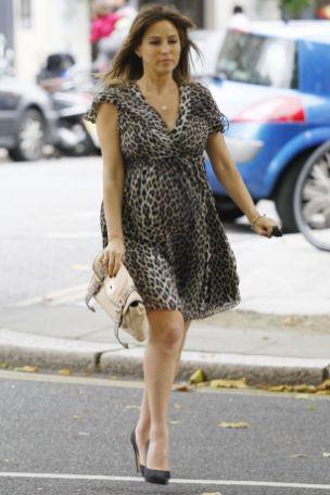 Strictly Come Dancing starlet Rachel Stevens leaves a toyshop in London
