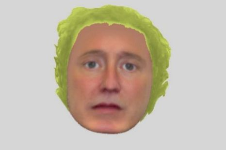 The E-Fit of the wanted man, who apparently has a lettuce for a head
