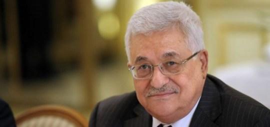 Commitment: Palestinian president Mahmoud Abbas
