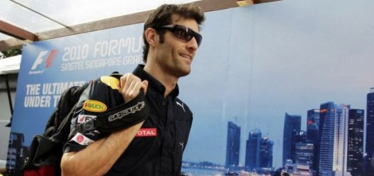 Relaxed: Mark Webber is leading the Formula One drivers' standings with just four races left to go