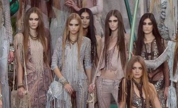 Roberto Cavalli shows off his untamed collection