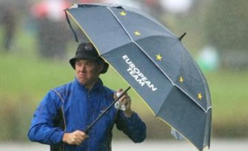 Ryder Cup organisers target Sunday finish despite rain delay