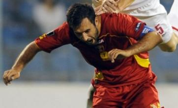 Mirko Vucinic marks Montenegro goal with shorts off celebration