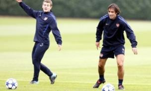 Robert Pires (right) could be joining Crawley Town (PA)