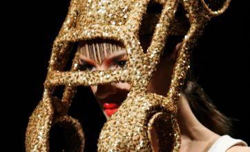 Lady Gaga's wacky headgear finds rival in 'car hat'