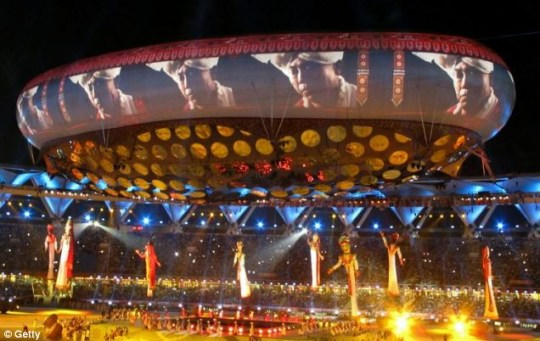 A general view of the Opening Ceremony for the Delhi 2010 Commonwealth Games at Jawaharlal Nehru Stadium