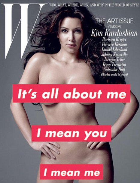 Kim Kardashian poses nude for W Magazine