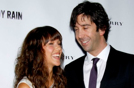 More than Friends: David Schwimmer has secretly wed Zoe Buckman (Picture: Wenn)
