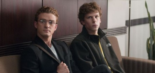 Well-cast: Justin Timberlake and Jesse Eisenberg in The Social Network