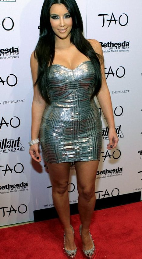 Would you dare to wear Kim Kardashian's disco-ball dress? (Getty Images)