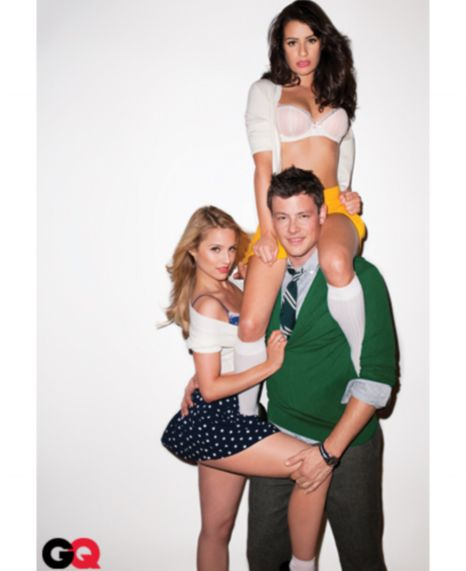 Glee does GQ: Dianna Agron, Lea Michele and Cory Monteith