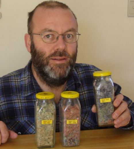 Graham Barker has saved a record-breaking 22.1 grams of his belly button fluff