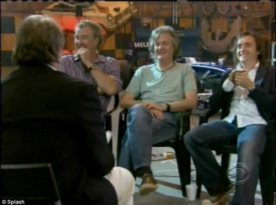 Top Gear presenters Jeremy Clarkson, James May and Richard Hammond bought in record ratings as they appeared on U.S. TV show 60 Minutes