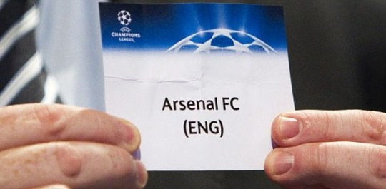 Uefa general secretary Gianni Infantino shows the Arsenal ballot paper (Reuters)