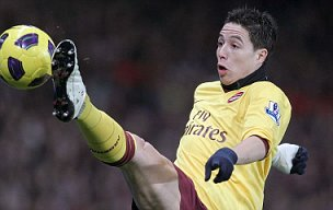 Arsenal's Samir Nasri in action