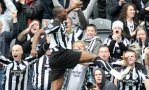 Shola Ameobi scored twice against Sunderland in October (PA)