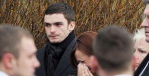 Adam Johnson, Dale Roberts funeral