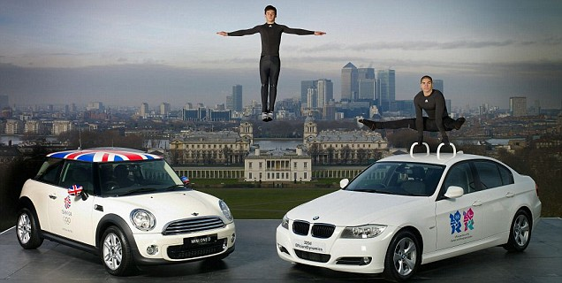Tom Daley and Louis Smith launch the BMW London 2012 Performance Team (Pic: Getty)