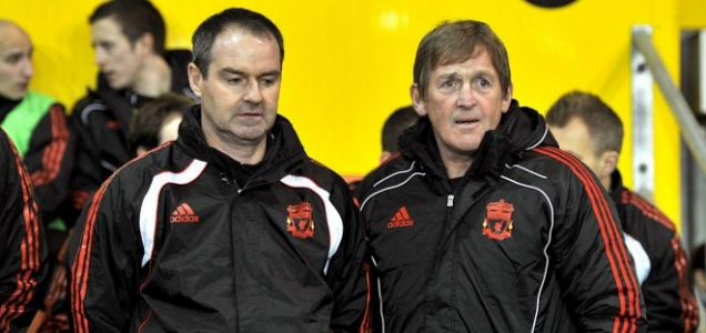 Liverpool's coaching team of Steve Clark (left) and Kenny Dalglish are eyeing up transfer targets (PA)