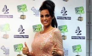 Katie Price won the loser of the year award at the Virgin Media Music Awards (PA)