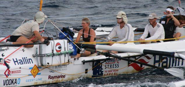 Rowing athletes naked Atlantic OCean