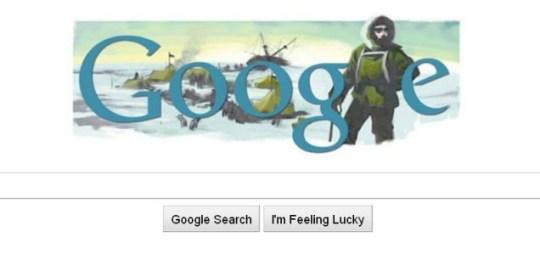 Ernest Shackleton Google Doodle