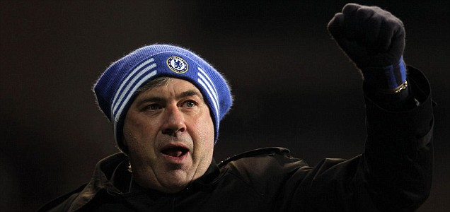 Carlo Ancelotti salutes his side's 2-0 Champions League victory over FC Copenhagen