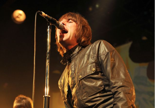 Liam Gallagher performs at the Beady Eye concert (Rex)