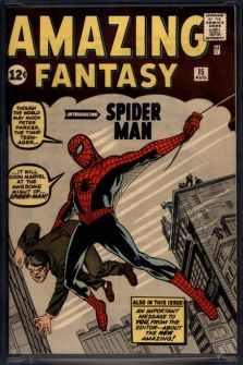 Spider-Man comic, Amazing Fantasy #15 sold by ComicConnect.com for 1 million