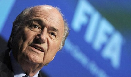Four more: FIFA president Sepp Blatter says he will stand down from his role in 2015 if re-elected in June (Pic: AP)