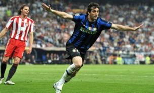 Milito could be playing in London next season. (PA)