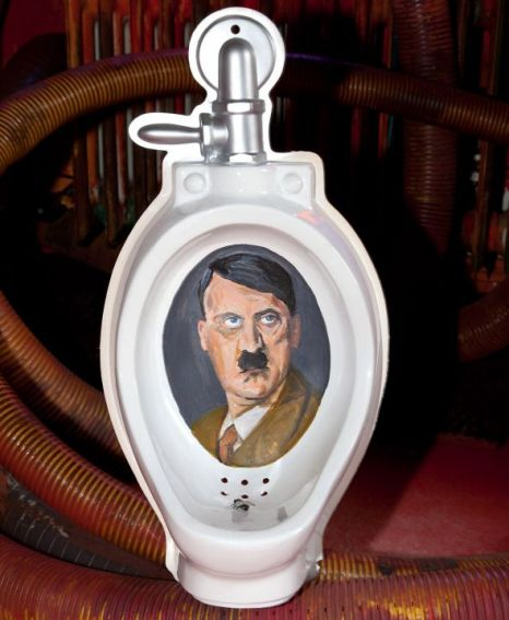 Piss on him: The Hitler urinal at the toilet museum in Harlekin