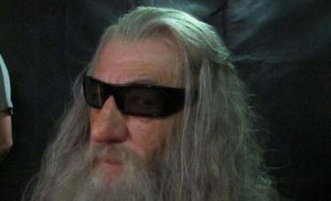 Gandalf Ian McKellen dons shades in preparation for The Hobbit 3D