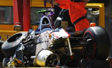 Lewis Hamilton 'frustrated' after Sergio Perez smash at Monaco Grand Prix