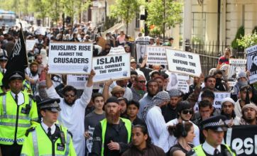 Extremists hold Osama bin Laden 'funeral' at US Embassy in London