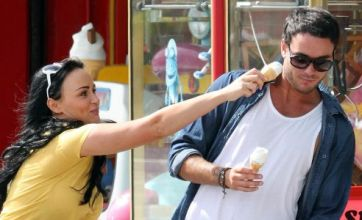 Chanelle Hayes and Jack Tweed get flirty with ice cream