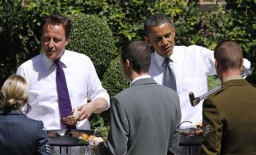 Downing Street barbecue has Barack Obama flipping burgers