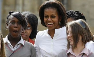 Michelle Obama inspires London pupils to succeed