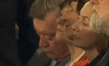 Kenneth Clarke falls asleep during Barack Obama's historic speech
