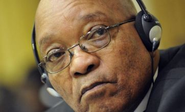 South Africa's Jacob Zuma in Libya for crisis talks with Gaddafi