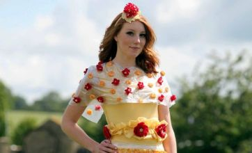 Cheese dresses inspired by Lady Gaga's meat frock