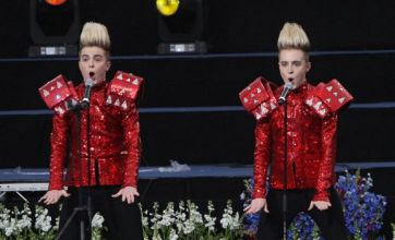 Jedward perform on Britain's Got Talent and are buzzed off