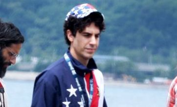 Sacha Baron Cohen flies the flag for America as he shoots The Dictator