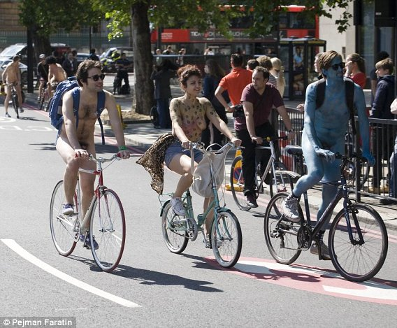 Advise london world naked bike ride erection sorry, that